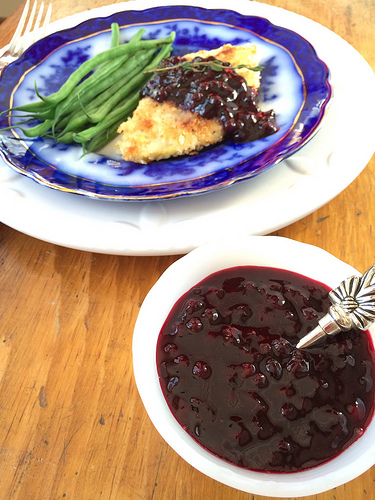 Lemony Wild Blueberry Sauce via LizsHealthyTable.com