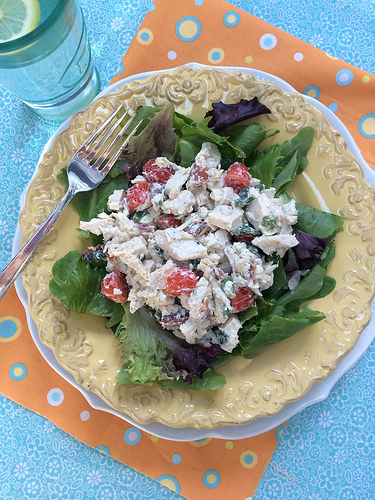 Chicken BLT Salad from The Slim Down South Cookbook via LizsHealthyTable.com