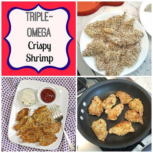 Triple-Omega Crispy Shrimp via LizsHealthyTable.com