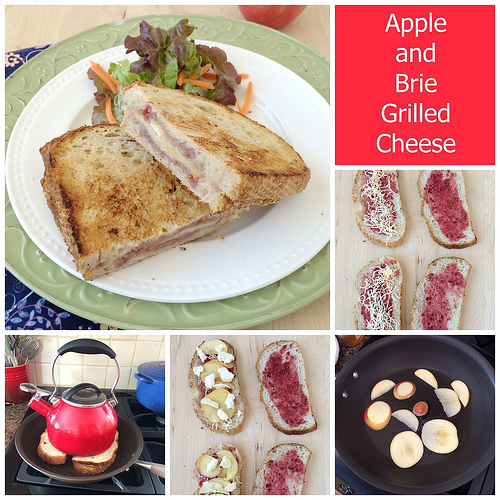 Apple and Brie Grilled Cheese via LizsHealthyTable.com