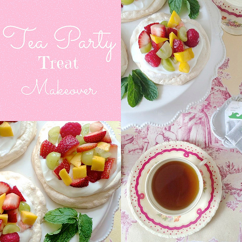 Tea Party Pavlovas via LizsHealthyTable.com