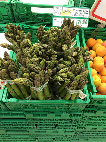 Asparagus in Zurich via Lizshealthytable.com