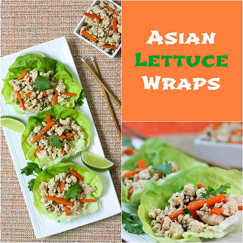 Asian Lettuce Wraps via LizsHealthyTable.com