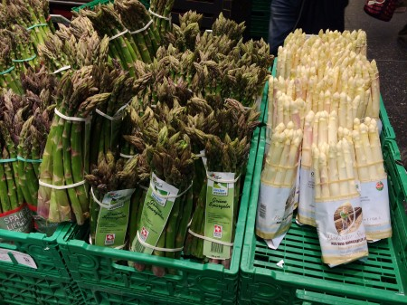 Asparagus at the Coop in Zurich via Lizshealthytable.com
