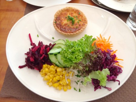 Quiche and salad in Rapperswil via Lizshealthytable.com