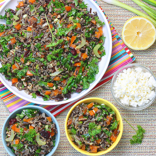 Wild Rice Summer Salad via LizsHealthyTable.com
