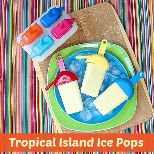 Tropical Island Ice Pops via LizsHealthyTable.com
