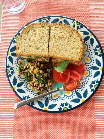 Lunchtime with Wild Rice Summer Salad via Lizshealthytable.com