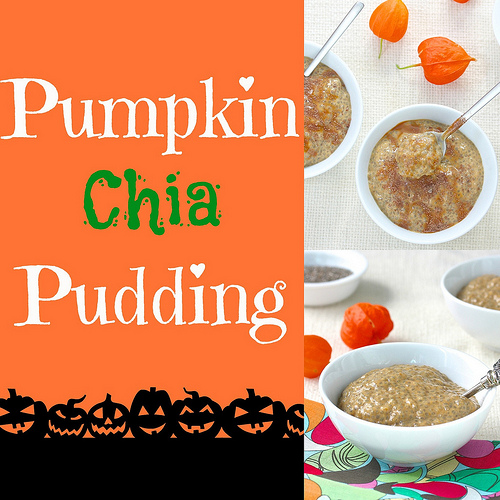 Pumpkin Chia Pudding via LizsHealthyTable.com
