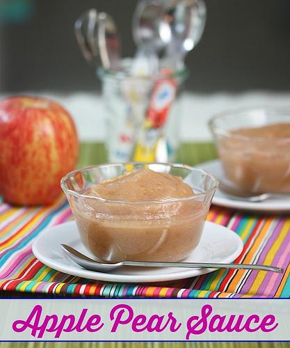 Apple Pear Sauce via LizsHealthyTable.com