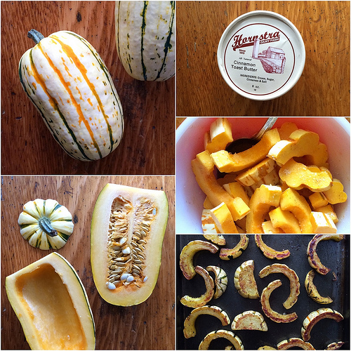 Cinnamon Butter from Hornstra Farms and How to Roast Delicata Squash via Lizshealthytable.com