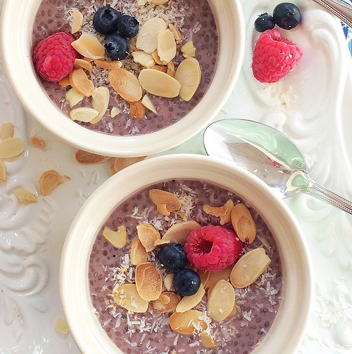 Strawberry Chia Pudding via LizsHealthyTable.com