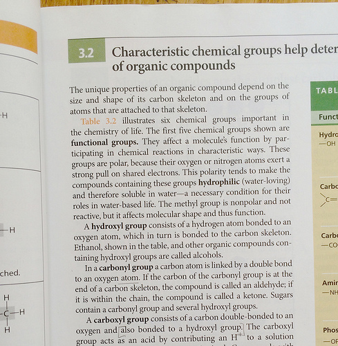 Biology text book via Lizshealthytable.com