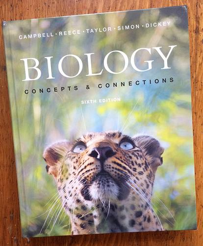 Biology text book via Lizshealthytable.com
