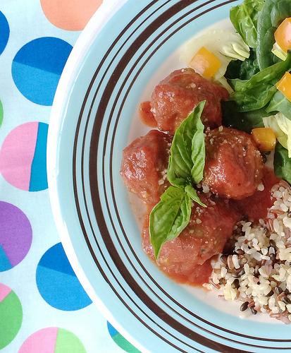 Cha Cha Cha Chia Meatballs via LizsHealthyTable.com