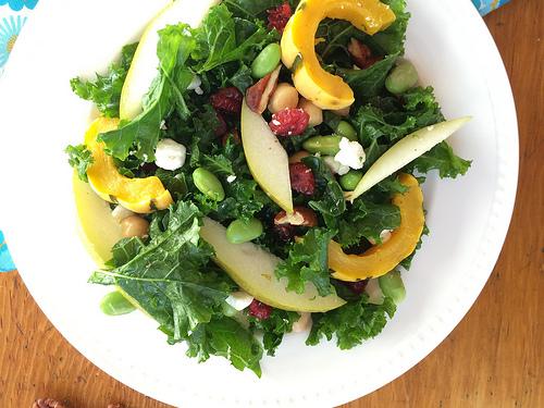 Make-Your-Own Kale Salad Bar via LizsHealthyTable.com