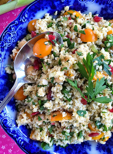 Tabbouleh with the Works via LizsHealthyTable.com