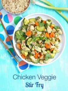 Chicken Veggie Stir Fry via LizsHealthyTable.com