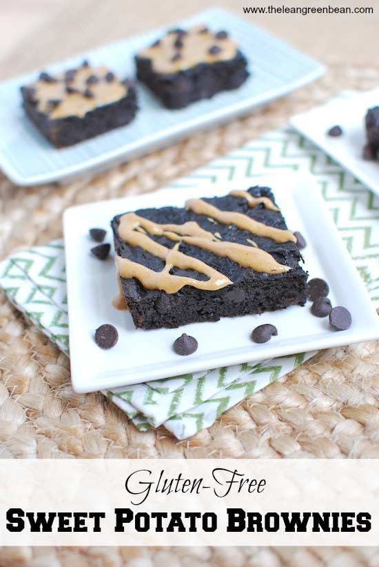 Gluten-Free Sweet Potato Brownies via LizsHealthyTable.com