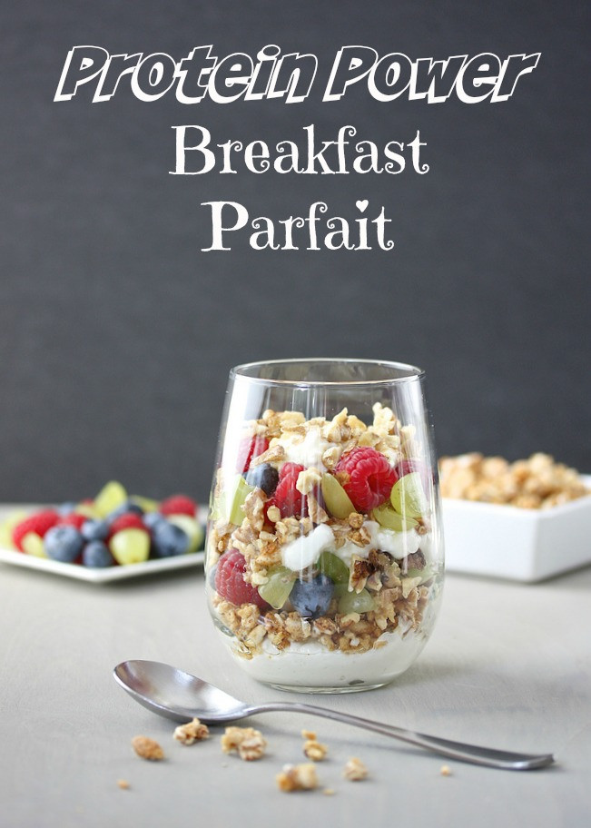 Protein Power Breakfast Parfait via LizsHealthyTable.com