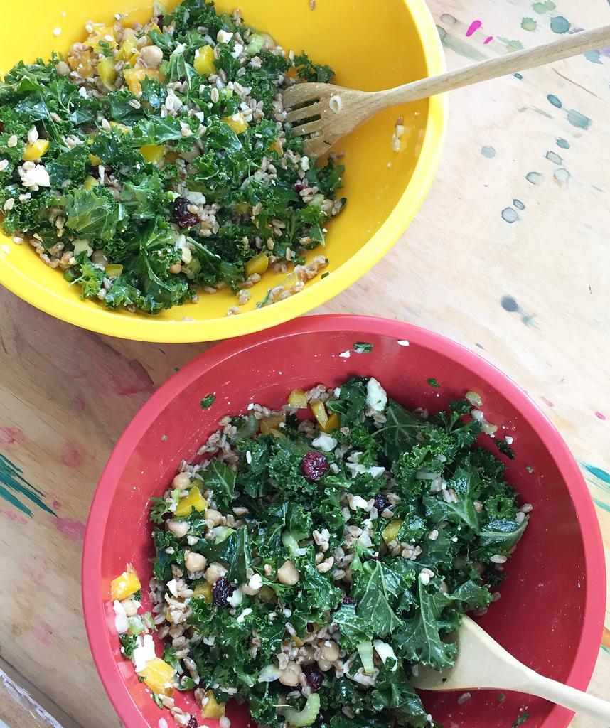 Wild Rice Summer Salad via LizsHealthyTable.com