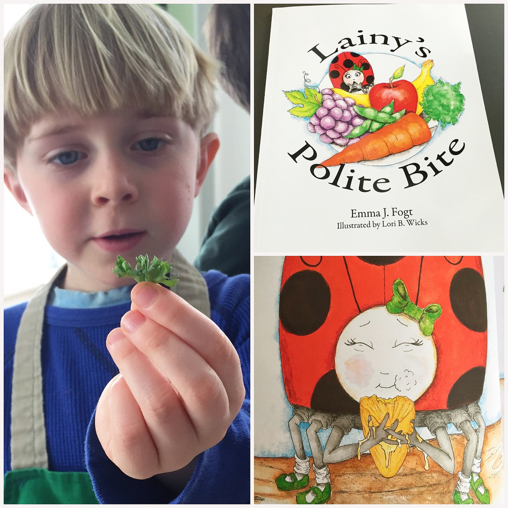 Getting Kids to Try New Foods with Lainy's Polite Bite via LizsHealthyTable.com