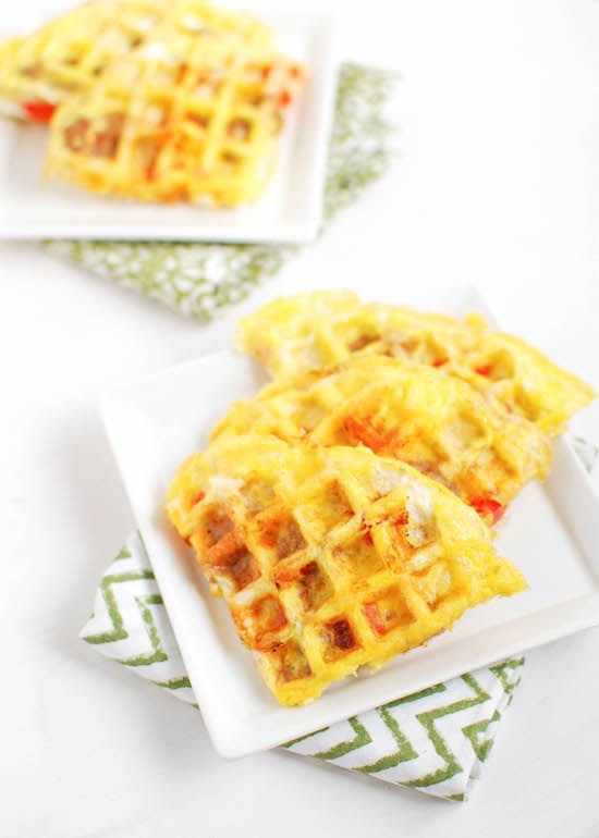 Egg Waffles via LizsHealthyTable.com