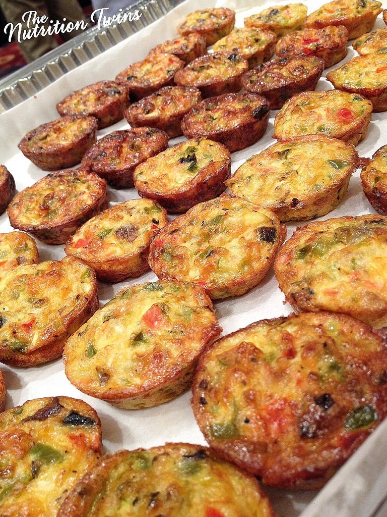 Veggie Frittata Bites via LizsHealthyTable.com
