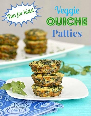 veggie quiche patties via LizsHealthyTable.com