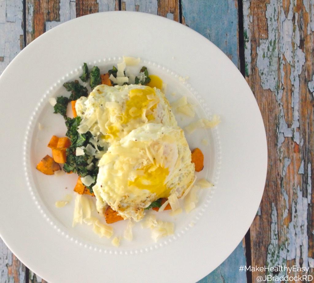 sweet potato egg & kale stacks via LizsHealthyTable.com