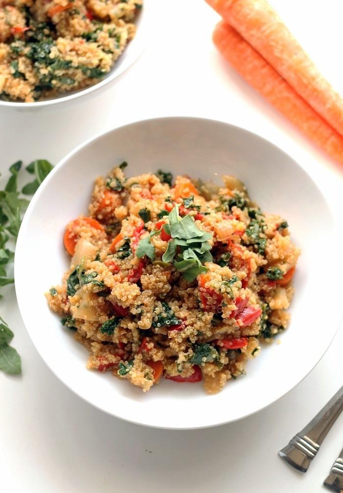"""Quinoa """"Fried"""" Rice via LizsHealthyTable.com"""