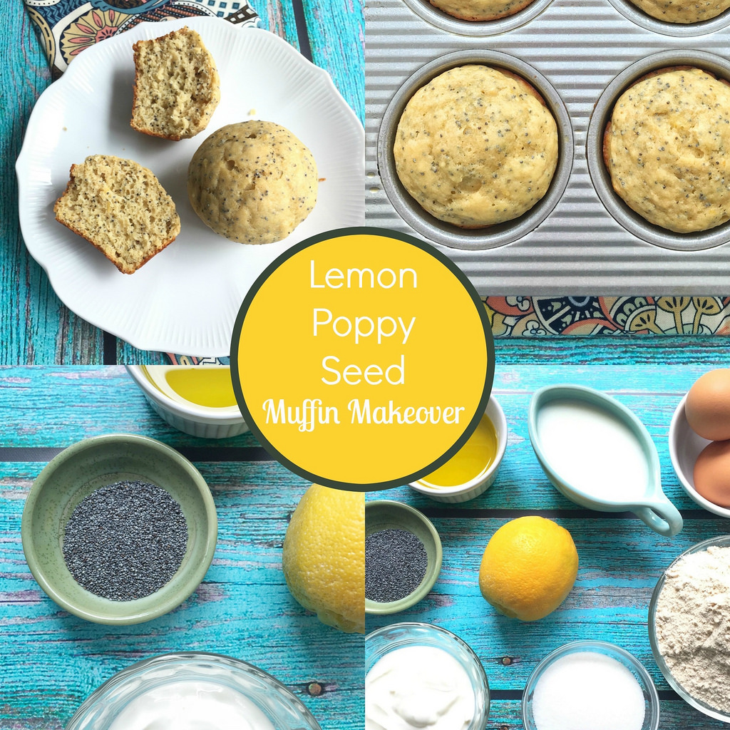 Lemon Poppy Seed Muffins via LizsHealthyTable.com