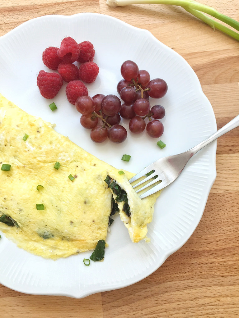 Beet Green Omelet + How to Cook Beet Greens via LizsHealthyTable.com