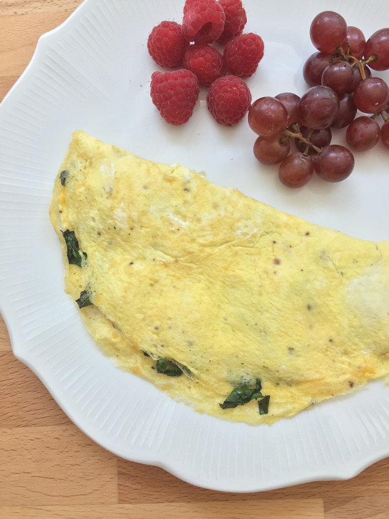 Beet Green Omelet via LizsHealthyTable.com