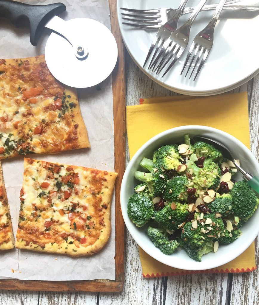 Broccoli Crunch Salad via LizsHealthyTable.com