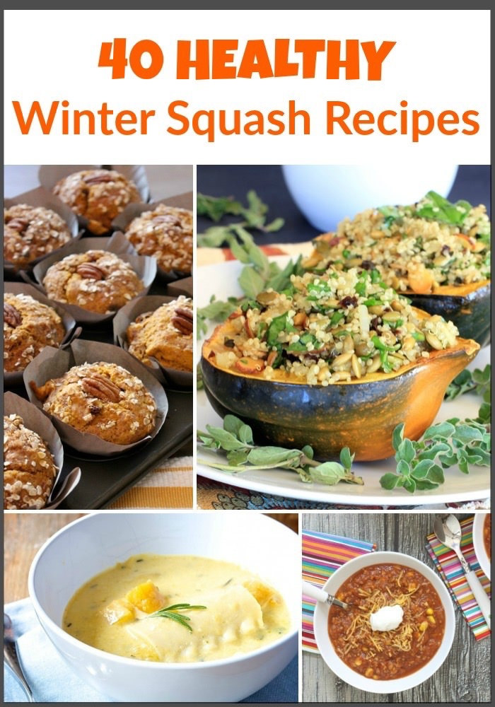 40 Healthy Winter Squash Recipes via LizsHealthyTable.com