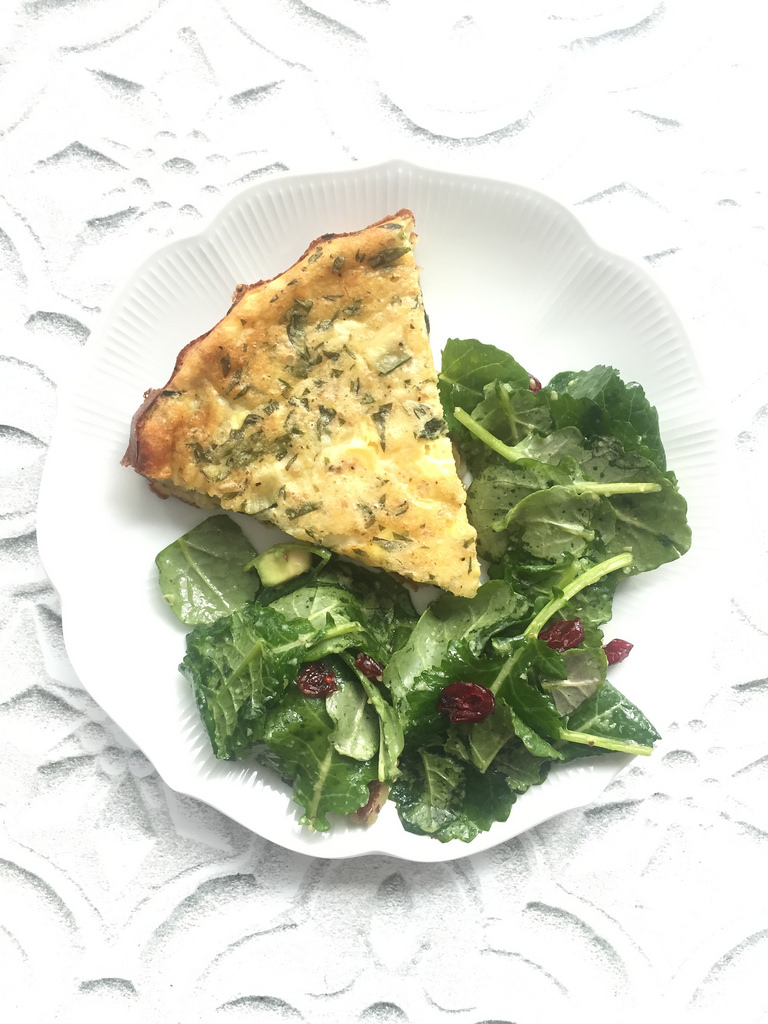 Quick Zucchini Quiche via LizsHealthyTable.com