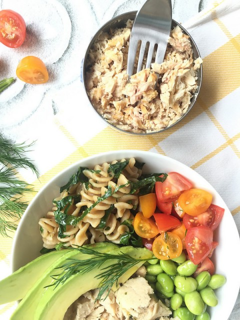 Tuscan Tuna Bowl via LizsHealthyTable.com