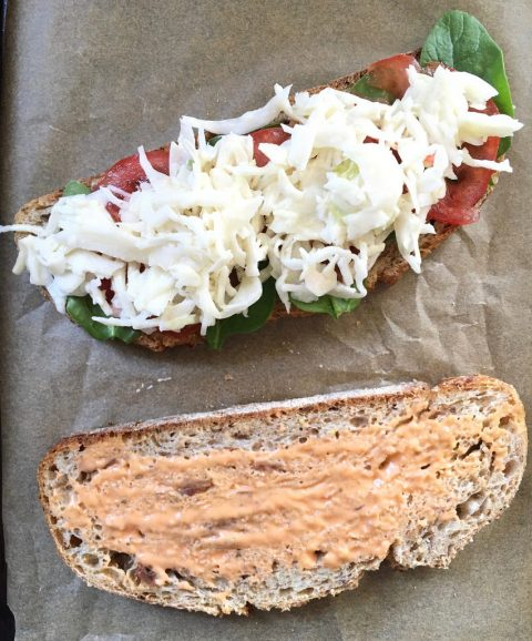 Deli-Lover's Lox Sandwich with Coleslaw and Russian via LizsHealthyTable.com