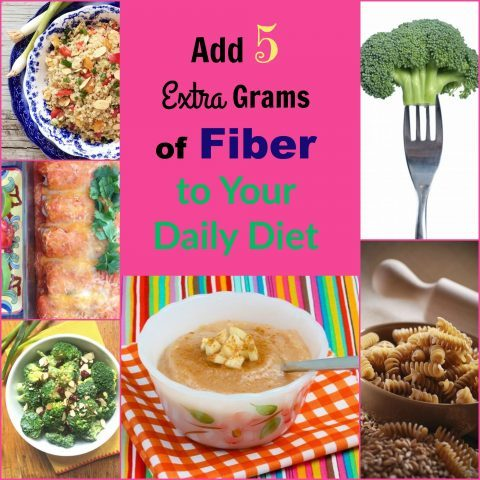 Add 5 extra grams of fiber to your daily diet via LizsHealthyTable.com