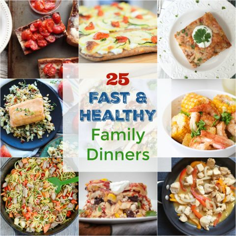 25 Fast and Healthy Family Dinners for Back to School via LizsHealthyTable.com