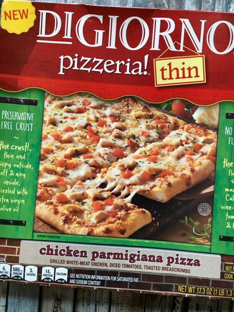 DiGiorno Chicken Parmigiana Pizza Thin via LizsHealthyTable.com