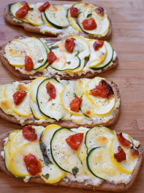 Summer Squash Pizzas from Annette at Food Science Nerd via LizsHealthyTable.com