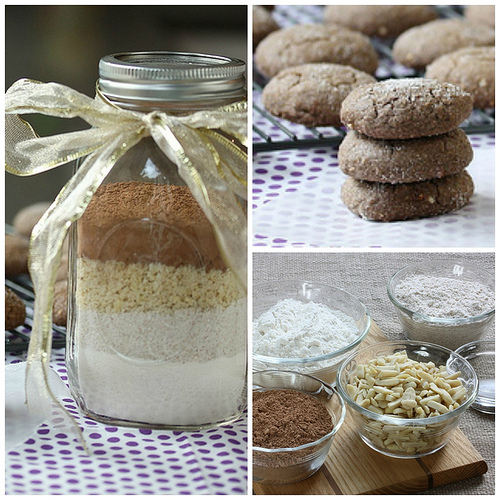 Chocolate Almond Cookies - DIY Mix via LizsHealthyTable.com