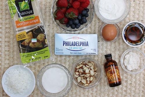 Mini Berry Cheesecakes via LizsHealthyTable.com