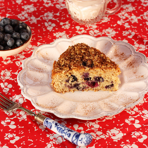 Better Blueberry Buckle via LizsHealthyTable.com