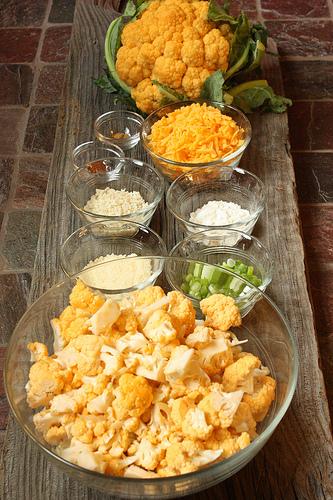 Orange Cauliflower Tex-Mex Casserole via LizsHealthyTable.com