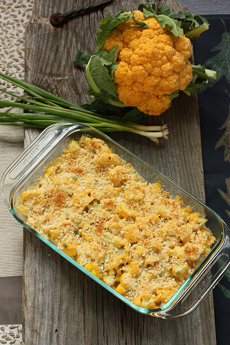 Orange Cauliflower Tex-Mex Casserole via LizsHealthyTable.com