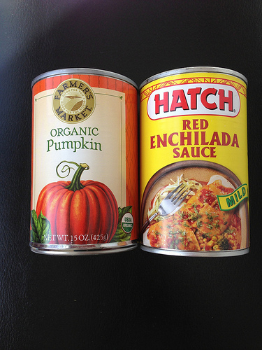 Canned Pumpkin and Enchilada Sauce vs LizshealthyTable.com