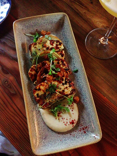 Halloumi Cheese at The Proprietors Bar & Table via Lizshealthytable.com